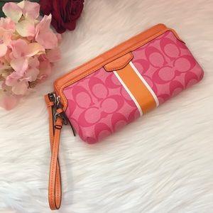 Coach Wristlet - Pink/Orange